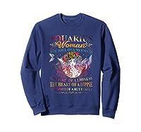 Aquarius Woman The Soul Of A Mermaid T Shirt Birthday Tees Sweatshirt Navy