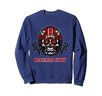 Kansas City Football Helmet Sugar Skull Day Of The Dead T Shirt Sweatshirt Navy