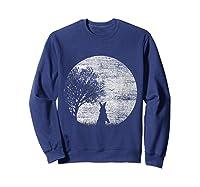 Nature Animal Gift Idea Easter Rabbit Moon Rabbit T Shirt Sweatshirt Navy
