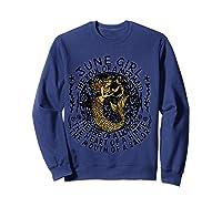 June Girl The Soul Of A Mermaid Tshirt Funny Gifts T Shirt Sweatshirt Navy