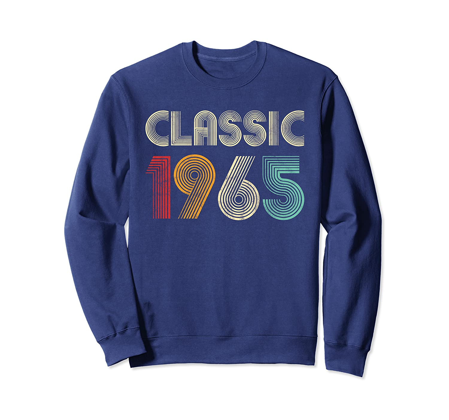 Classic 1965 Vintage 55th Birthday Gift Men Women Sweatshirt