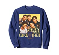 Take That Retro 90's Boyband Group Shot Shirts Sweatshirt Navy