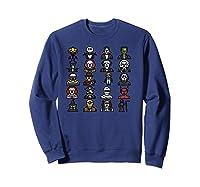 Friends Cartoon Halloween Character Scary Horror Movies Pullover Shirts Sweatshirt Navy