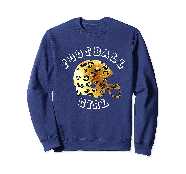 Cute Football Girl Junkie Fan Cheetah Leopard Print Helmet Sweatshirt