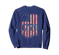 Betsy Ross Shirt 4th Of July American Flag Tshirt 1776 Sweatshirt Navy