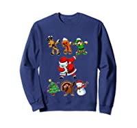 Dabbing Santa Friends Christmas Girls Xmas Gifts Shirts Sweatshirt Navy