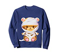 Mummy Bear Halloween Out Costume Party Gifts Pullover Shirts Sweatshirt Navy