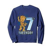 Guardians Of The Galaxy Baby Groot 7th Birthday Shirts Sweatshirt Navy