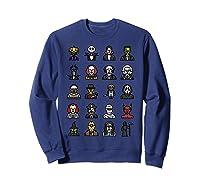 Friends Cartoon Halloween Character Scary Horror Movies Shirts Sweatshirt Navy