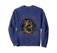 January Girl The Soul Of A Mermaid Tshirt Funny Gifts T Shirt Sweatshirt Navy