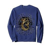 May Girl The Soul Of A Mermaid Tshirt Birthday Gifts T Shirt Sweatshirt Navy