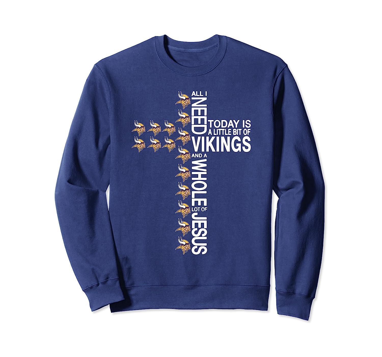 Merry Christmas Cross Football Team Minnesota-Viking Xmas Sweatshirt-ANZ