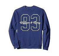 College Of William Mary Tribe Cn3fd05 Shirts Sweatshirt Navy