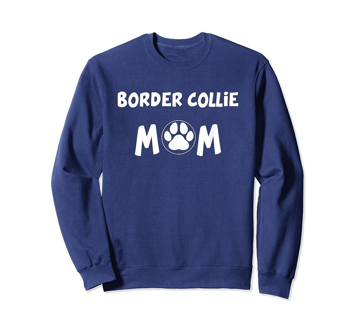 Perfect Dog Mother Gift | Border Collie Mom T-Shirt-Sweatshirt-Navy