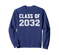 Class Of 2031 Grow With Me First Day Of School Shirts Sweatshirt Navy