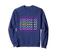Chicana Af Shirt, Pride Gift For , Chicana Girls Tank Top Sweatshirt Navy