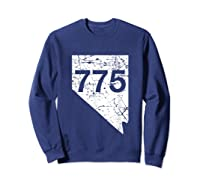 Carson City Reno Sparks Area Code 775 Shirt Nevada Gift Sweatshirt Navy