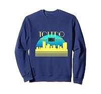 Ohio Toledo Hometown T Shirt Glass City Christmas Gift Ideas Sweatshirt Navy