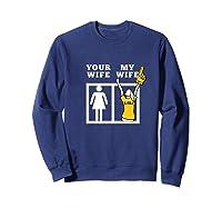 Tigers Lsu, My Wife Apparel Shirts Sweatshirt Navy