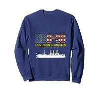 Ddg 56 Uss John S Mccain Shirts Sweatshirt Navy