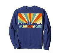 Albuquerque T Shirt City Skyline 70s Retro Souvenir Shirt Sweatshirt Navy