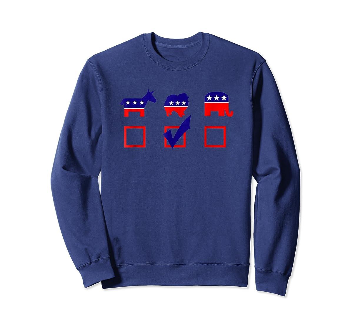Vote Pomeranian For President T-shirt Cool Dog Lover Shirt-Sweatshirt-Navy
