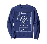 Football Soccer Tactic T Shirt Pep Formation Sweatshirt Navy