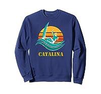 Catalina Souvenir Island California Shirts Sweatshirt Navy