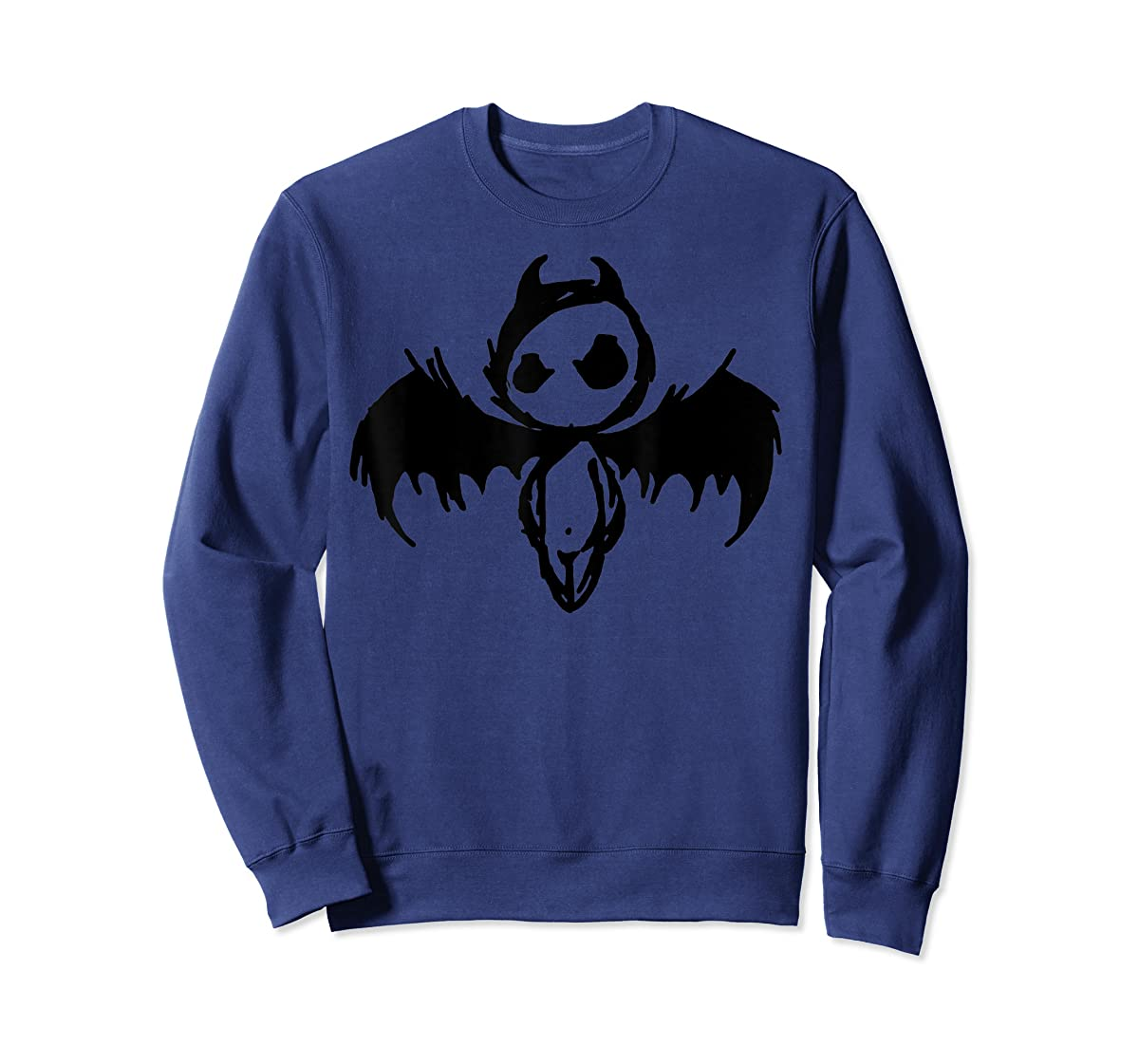 Cute Demon Vintage Couple Matching Halloween Party Costume  T-Shirt-Sweatshirt-Navy