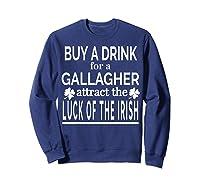 Gallagher Luck Of The Irish Namesake Family Gift T Shirt Sweatshirt Navy