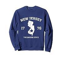 New The Garden State Vintage New Home Shirts Sweatshirt Navy