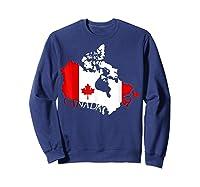 Proud Canada Flag Map T-shirts Maple Leaf Shirt Canada Day T-shirt Sweatshirt Navy