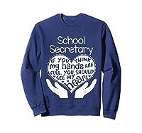 School Secretary Clerk Office Heart Group Gift Shirts Sweatshirt Navy
