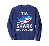 Tia Shark Doo Doo Doo Matching Family Shirts Sweatshirt Navy