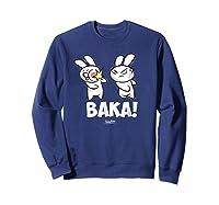 Funny Anime Baka Rabbit Baka Japanese Anime Lover Shirt Sweatshirt Navy