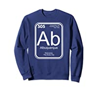 Albuquerque Tshirt Periodic Table New Mexico Gift Sweatshirt Navy