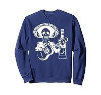 Mariachi Skeleton With Tequila Dia De Los Muertos Shirts Sweatshirt Navy