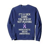 World Narcissistic Abuse Awareness Win Playing Survivor Shirts Sweatshirt Navy