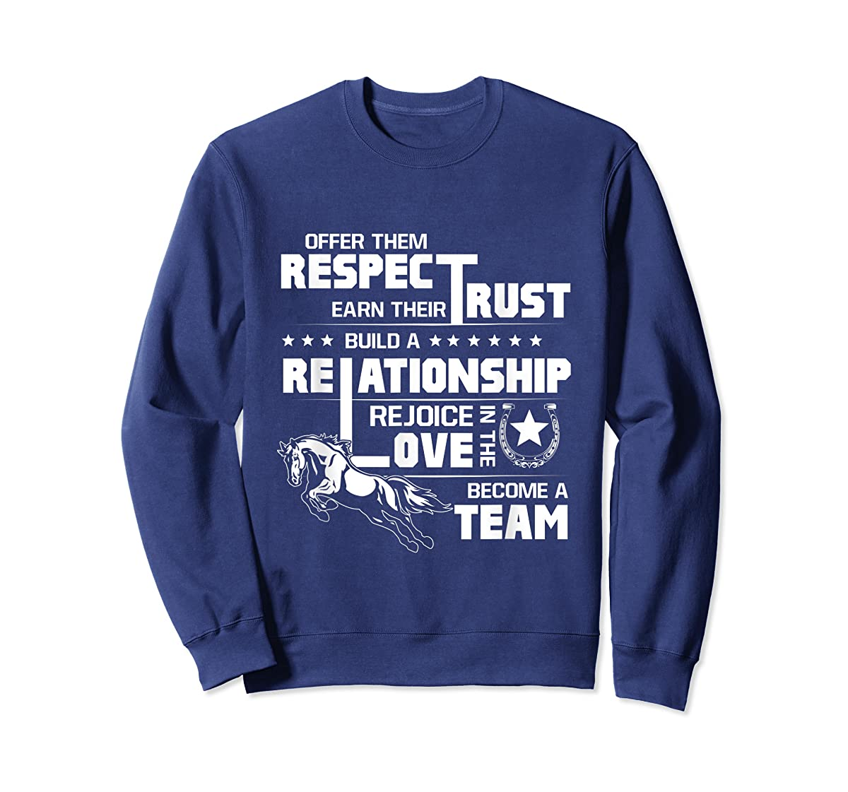 Cool Horse T-shirt with great quote for equestrian lover tee-Sweatshirt-Navy