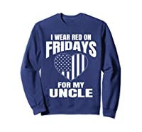 Red Fridays Deployed Uncle T-shirt Sweatshirt Navy