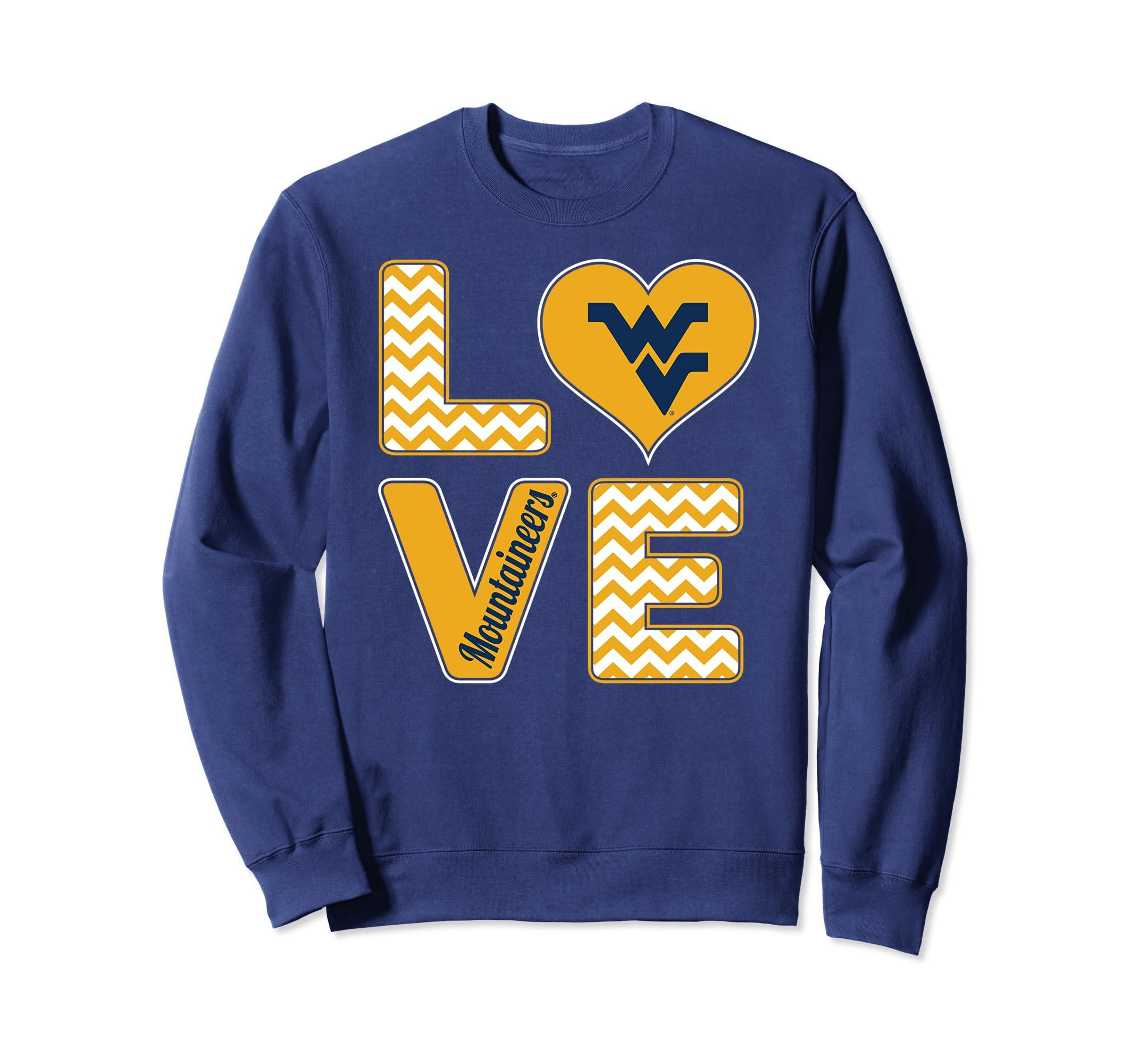 West Virginia Mountaineers Stacked Love Sweatshirt - Apparel-SFL