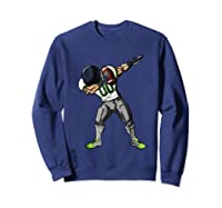 Football Dabbing T Shirt Funny Gray Navy Neon Green  Sweatshirt Navy