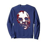 American Horror Story Asylum Bloody Face Shirts Sweatshirt Navy