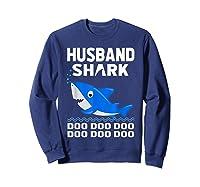 Husband Shark Doo Doo Shirt For Matching Family Pajamas Sweatshirt Navy