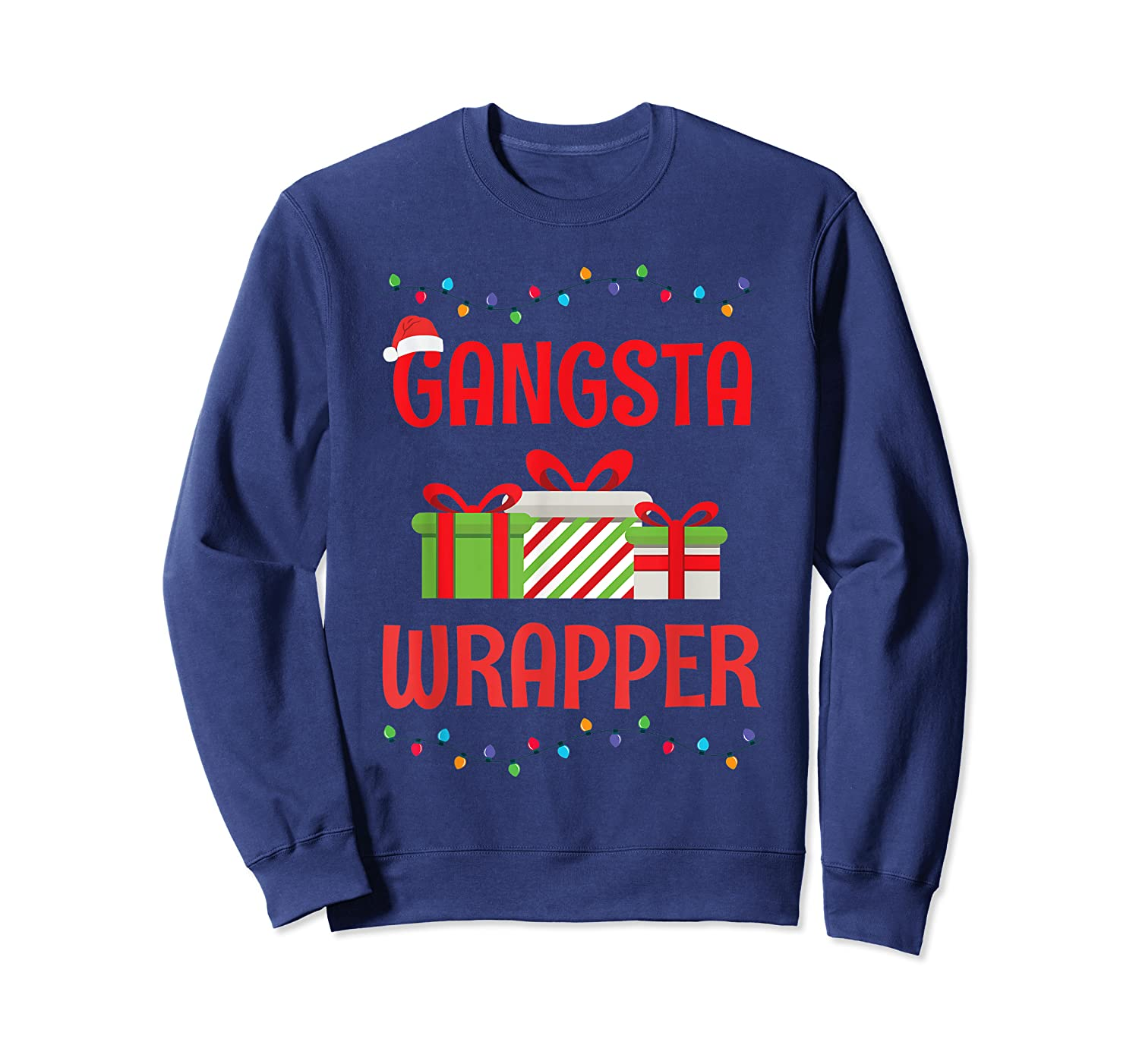 Funny Christmas Gift Gangsta Wrapper Shirts Crewneck Sweater