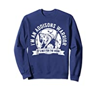 Addisons Hooded Warrior T-shirt- Addisons Disease Awareness Sweatshirt Navy