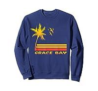 Retro Grace Bay Beach T-shirt Island Paradise Shirt Sweatshirt Navy