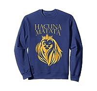 \'s Golden Lion King-hakuna Matata Tshirt-premium Quality Sweatshirt Navy