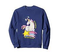 Too For Your Bs Unicorn T-shirt Rainbow Sparkles Sweatshirt Navy