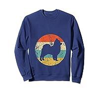 Pomeranian Retro Style Dog Shirts Sweatshirt Navy